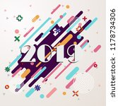 happy new year 2019 geometric... | Shutterstock .eps vector #1178734306
