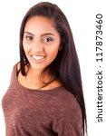 beautiful mix race woman posing | Shutterstock . vector #117873460