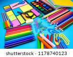 stationery  colorful pencils | Shutterstock . vector #1178740123