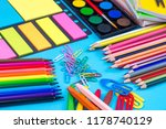 stationery  colorful pencils | Shutterstock . vector #1178740129