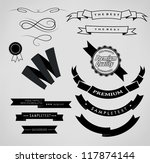 set retro ribbons and label ... | Shutterstock .eps vector #117874144