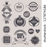 set of retro vintage labels ... | Shutterstock .eps vector #117874186