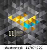 gray isometric design template