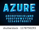 crystal display font with... | Shutterstock .eps vector #1178750293