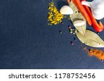 different kind of spices on... | Shutterstock . vector #1178752456