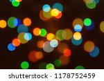 abstract christmas bokeh... | Shutterstock . vector #1178752459