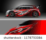 car decal wrap  truck and... | Shutterstock .eps vector #1178753386