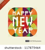 happy new year composition.... | Shutterstock .eps vector #117875464