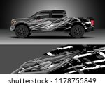 car decal wrap  truck and cargo ... | Shutterstock .eps vector #1178755849