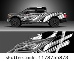 car decal wrap  truck and cargo ... | Shutterstock .eps vector #1178755873