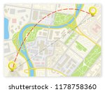 city map navigation route ... | Shutterstock .eps vector #1178758360