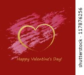valentine's day card on red... | Shutterstock .eps vector #117876256