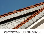 tiled roofs as traditional... | Shutterstock . vector #1178763610