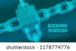 block chain. crypto currency.... | Shutterstock .eps vector #1178774776