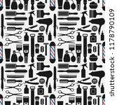 barbershop accessories seamless ... | Shutterstock .eps vector #1178790109