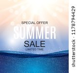 summer sale concept background. ... | Shutterstock .eps vector #1178794429