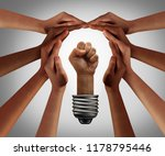 people power concept and... | Shutterstock . vector #1178795446
