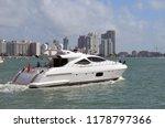 white motor yacht on the... | Shutterstock . vector #1178797366