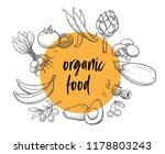 organic food vegetables and... | Shutterstock .eps vector #1178803243