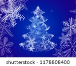 xmas tree made from snowflakes... | Shutterstock .eps vector #1178808400