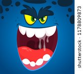 angry  cartoon monster face... | Shutterstock .eps vector #1178809873