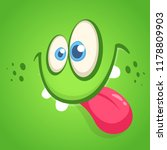 funny cartoon monster face...   Shutterstock .eps vector #1178809903