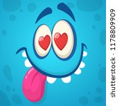 cartoon monster face in love....   Shutterstock .eps vector #1178809909