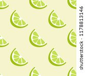 lime seamless vector pattern.... | Shutterstock .eps vector #1178813146