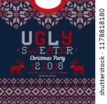 ugly sweater christmas party... | Shutterstock .eps vector #1178818180