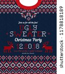 ugly sweater christmas party... | Shutterstock .eps vector #1178818189
