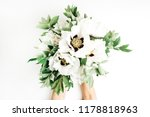 female hands holding white... | Shutterstock . vector #1178818963