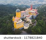 the pena palace  a romanticist... | Shutterstock . vector #1178821840