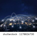 network connection technology ... | Shutterstock . vector #1178826730