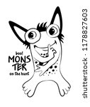 vector cool monster. hand drawn ...   Shutterstock .eps vector #1178827603