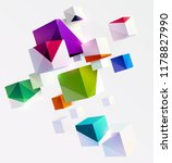 composition of 3d cubes in... | Shutterstock .eps vector #1178827990