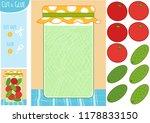 education paper game for... | Shutterstock .eps vector #1178833150