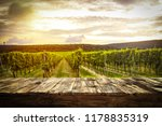 old rustic table in a beautiful ... | Shutterstock . vector #1178835319