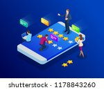 customer reviews. review rating ... | Shutterstock .eps vector #1178843260