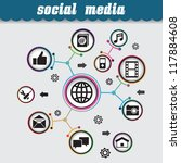 concept of social media  ... | Shutterstock .eps vector #117884608
