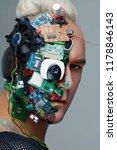 studio photo of man cyborg ... | Shutterstock . vector #1178846143