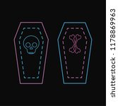 halloween neon icons coffin... | Shutterstock .eps vector #1178869963