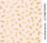luxury rose gold party confetti ... | Shutterstock .eps vector #1178875090