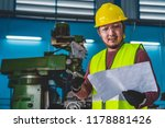 asian machinist in safety suit... | Shutterstock . vector #1178881426