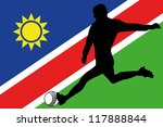 the flag of namibia with a... | Shutterstock .eps vector #117888844