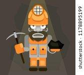illustration of a coal miner... | Shutterstock .eps vector #1178895199