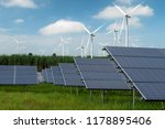 wind turbines generating... | Shutterstock . vector #1178895406