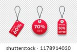 realistic paper sale tags. set... | Shutterstock .eps vector #1178914030