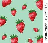 strawberry pattern background | Shutterstock .eps vector #1178918173