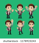 men with different poses | Shutterstock .eps vector #1178923243