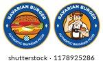 bavarian burger logo  man in...   Shutterstock .eps vector #1178925286